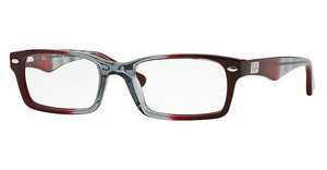 Ray-Ban RX5206 5517 GRADIENT GREY ON BORDO'