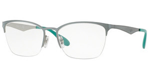 Ray-Ban RX6345 2919 SILVER TOP LIGHT GREEN