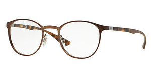 Ray-Ban RX6355 2758 DARK MATTE BROWN