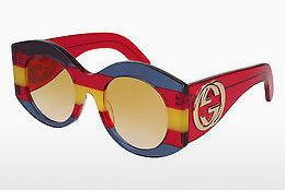 Ophthalmic Glasses Gucci GG0177S 002 - Blue, Red, Yellow, Multi-coloured