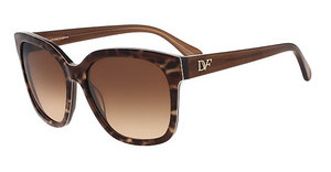 Diane von Fürstenberg DVF602S JULIANNA 210 BROWN ANIMAL