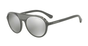 Emporio Armani EA4067 55216G LIGHT GREY MIRROR SILVERTRANSPARENT GREY/GREY