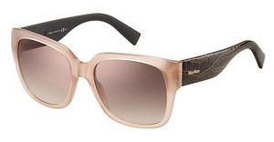 Max Mara MM 0001/S NVH/QH BROWN MS GLDBWCRO WIN (BROWN MS GLD)