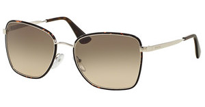 Prada PR 52SS 2AU3D0 LIGHT BROWN GRAD LIGHT GREYDARK HAVANA/SILVER