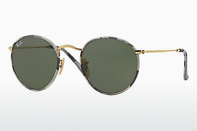 Ophthalmic Glasses Ray-Ban ROUND METAL (M) (RB3447JM 171) - Patterned, Grey, White