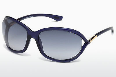 Ophthalmic Glasses Tom Ford Jennifer (FT0008 90W) - Blue, Shiny