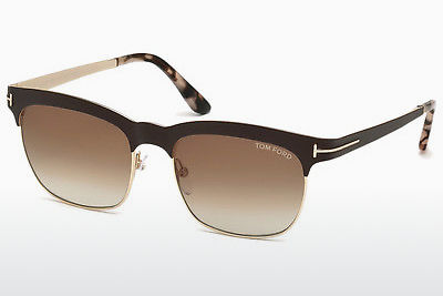 Ophthalmic Glasses Tom Ford Elena (FT0437 48F) - Brown, Dark, Shiny