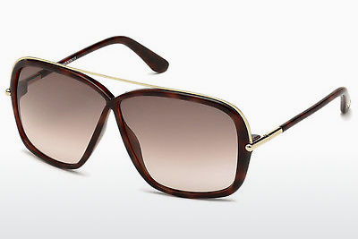 Ophthalmic Glasses Tom Ford Brenda (FT0455 52F) - Brown, Dark, Havana