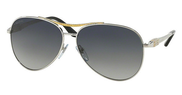 Bvlgari BV6075 2005T3 POLAR GREY GRADIENTSILVER/PALE GOLD