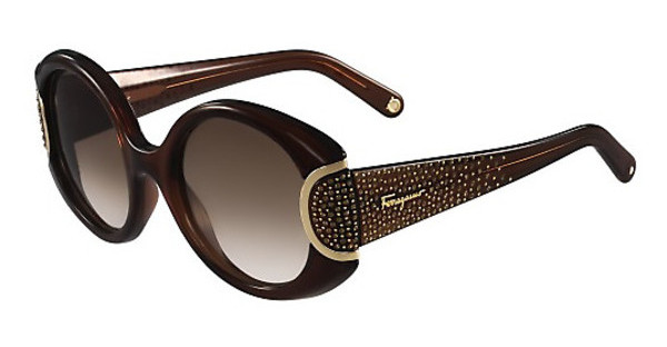 Salvatore Ferragamo SF811SR SIGNATURE 210 CRYSTAL BROWN