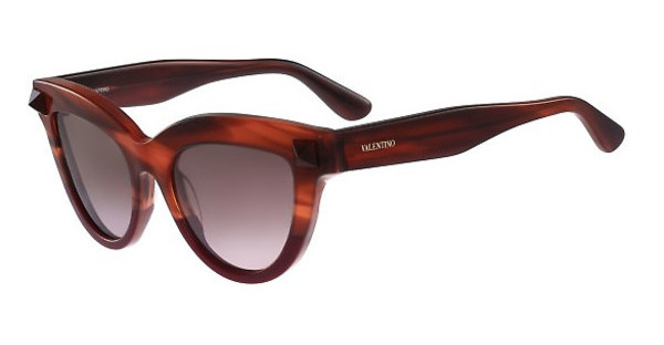 Valentino V712S 259 STRIPED BROWN/SCARLET