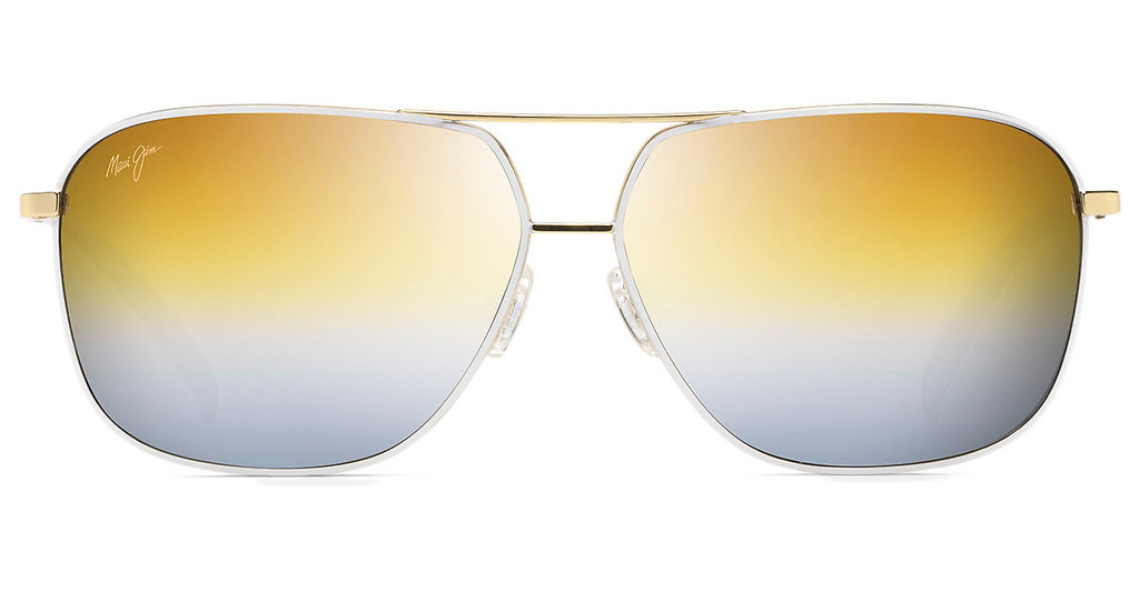 Maui Jim   Kami DGS778-05C Dual Mirror (Gold to Silver)Gold with White (*frames are Rx'able, Dual Mirror lenses are not)