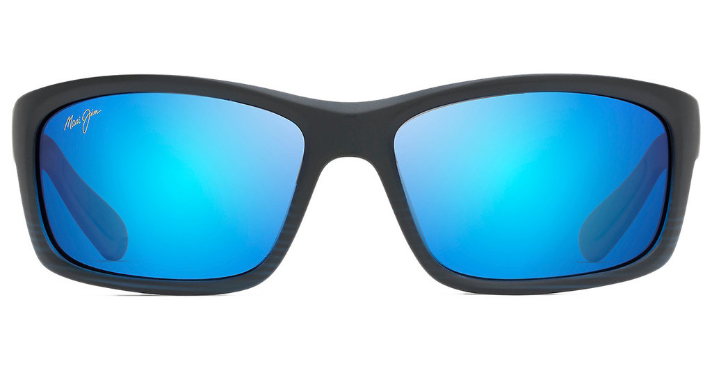 Maui Jim   Kanaio Coast B766-08C Blue HawaiiMatte Translucent Blue Black w/ Stripe