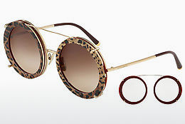 Ophthalmic Glasses Dolce & Gabbana DG2198 131813 - Gold, Red, Leopard