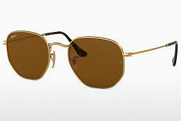 Ophthalmic Glasses Ray-Ban Hexagonal (RB3548N 001/57) - Gold