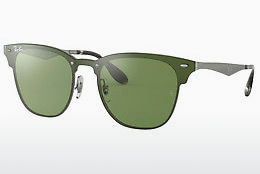 Ophthalmic Glasses Ray-Ban Blaze Clubmaster (RB3576N 042/30) - Green, Silver