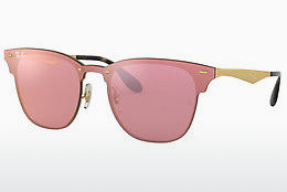 Ophthalmic Glasses Ray-Ban Blaze Clubmaster (RB3576N 043/E4) - Pink, Gold