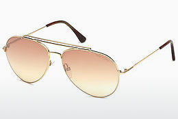 Ophthalmic Glasses Tom Ford Indiana (FT0497 28Z) - Gold