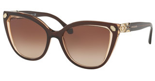 Bvlgari BV8212B 547213 BROWN GRADIENTBROWN ON TRANSPARENT BROWN