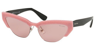 Miu Miu MU 04US 1199G1 LIGHT PINKGLITTER ALABASTER