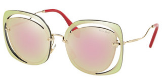 Miu Miu MU 54SS ZVN5L2 GREY MIRROR YELLOW ROSEPALE GOLD