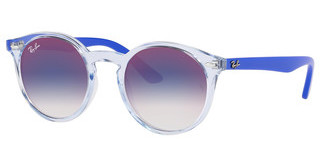 Ray-Ban Junior RJ9064S 7051X0 BLUE MIRROR REDTRANSPARENT LIGHT BLUE