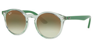 Ray-Ban Junior RJ9064S 7053W0 GREEN MIRROR REDTRASPARENT GREEN