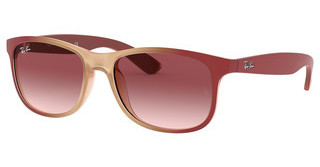 Ray-Ban RB4202 63698H CLEAR GRADIENT DARK VIOLETGRAD BORD ON RUBBER LT PINK TR