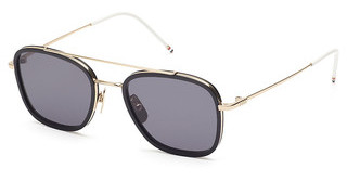 Thom Browne TB-800 A Dark Grey-ARShiny 12K Gold - Matte Black