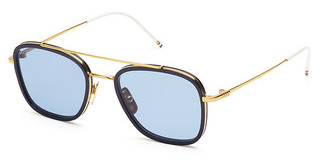Thom Browne TB-800 B Dark Blue-ARShiny 18K Gold - Navy